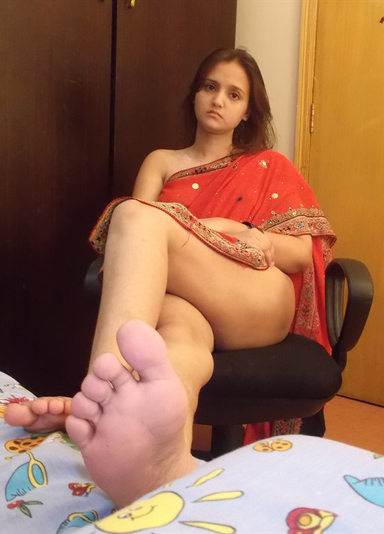 Feet indian aunty